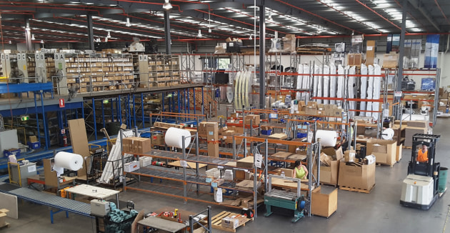 Around 400-600 consignments of parts and accessories are dispatched each day from the BLA Distribution warehouse.