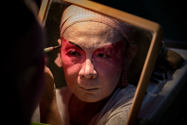 'Backstage...Chinese Street Opera,' by Robin Yong.