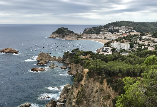 The stunning seaside region of Tossa de Mar on the Mediterranean coast approximately 40km from Girona.
