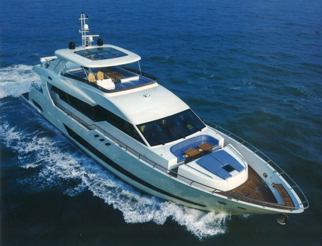The Heysea Asteria 96 with exterior styling by David Bentley Yacht Design.