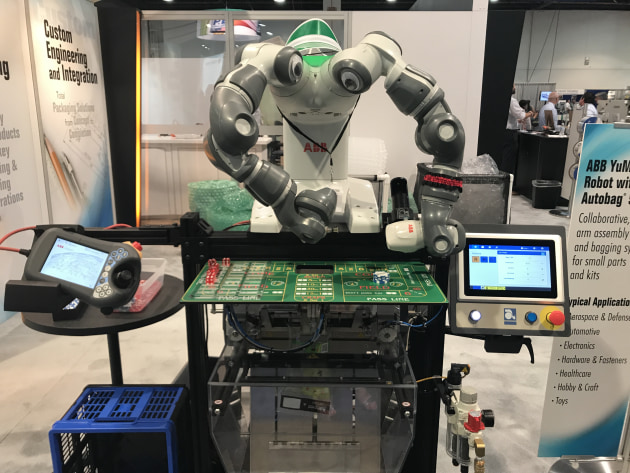 ABB Yumi 'casino-style' collaborative robot turned many heads.