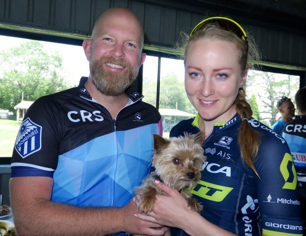 Ride organiser Jeremy Norton with Gracie Elvin after the ride.