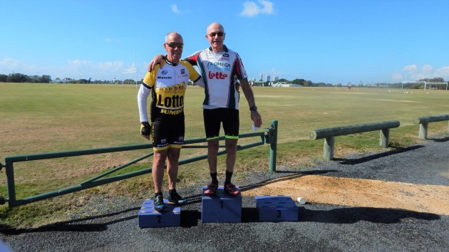 Lee Wilde was a passionate cyclist and regular at club races and events. He is pictured here on top of the E-grade podium during August. Image: Gold Coast Masters Cycling Club