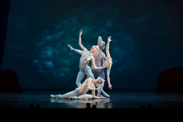 QB ensemble as the Mermaids in Peter Pan. Photo: DAVID KELLY