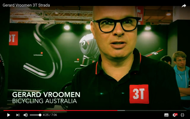 Gerard Vroomen explains the innovative 3T Strada - see the full video interview on the Bicycling Australia YouTube channel.