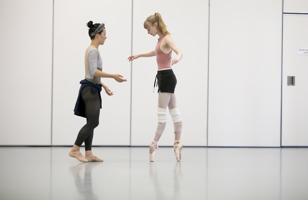 Jill Ogai rehearsing with Lisa Craig. Photo: Lynette Wills.
