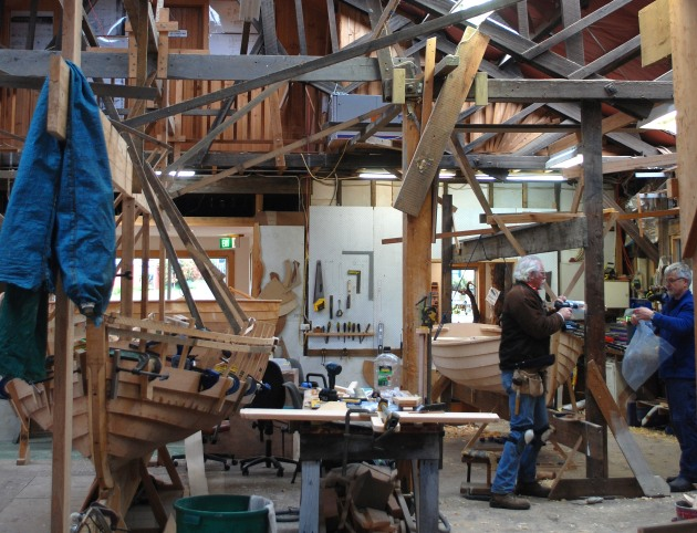 Projects underway at the Wooden Boat Centre.