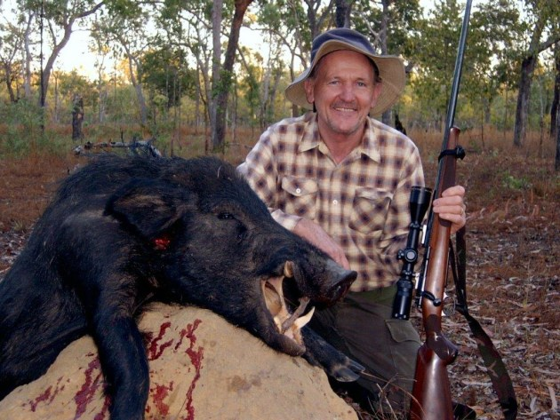 Anton with nice boar