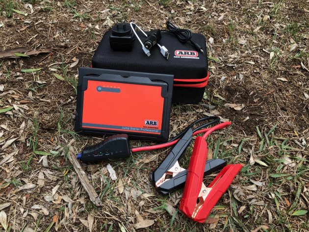 Ths high-capacity ARB Jump Starter is compact and if stored in the vehicle, can get you going from flat to go in minutes.