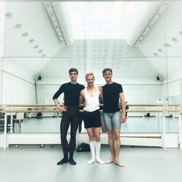 (L-R) Brayden Gallucci, Steven McRae and Harry Churches in London.