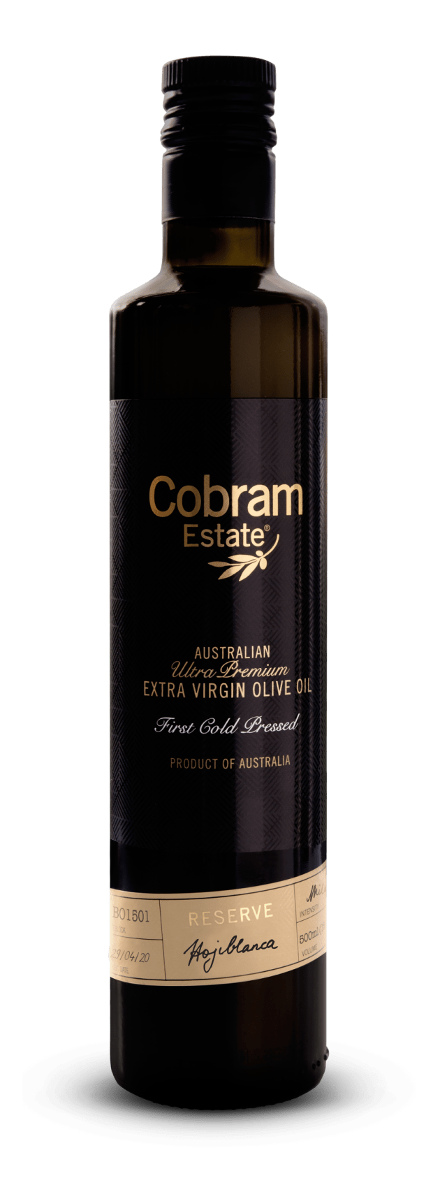 Cobram Estate's Black Label Hojiblanca Extra Virgin Olive Oil was awarded the best oil in the Southern Hemisphere by the International Olive Council at the Mario Solinas 2020 awards.