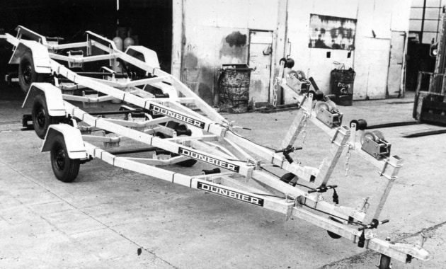Some of the first trailers manufactured by Dunbier in 1969.