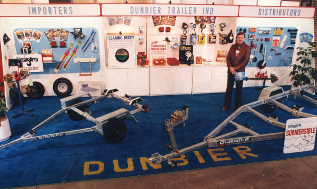 Dunbier boat show display in 1980.