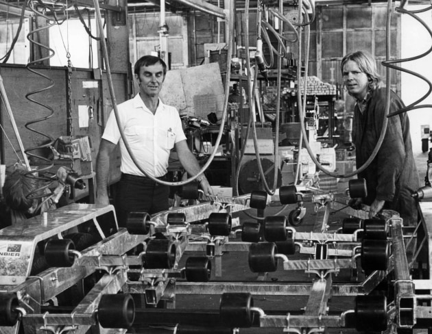 On the production line in the '70s.