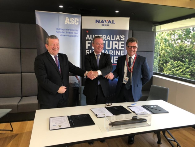 The Framework Agreement details the terms and conditions through which Naval Group Australia and ASC will collaborate through separate commercial arrangements. Christopher Pyne via Twitter