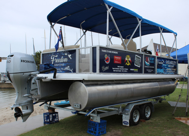 The new Freedom pontoon for Sailability Gold Coast.