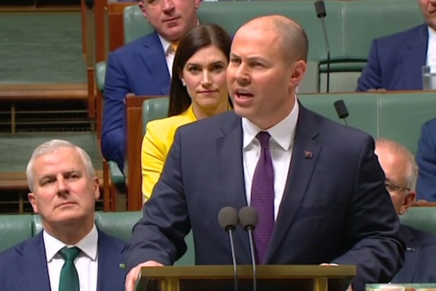 """We want small businesses to prosper"": Josh Frydenberg delivers the 2019 federal budget."