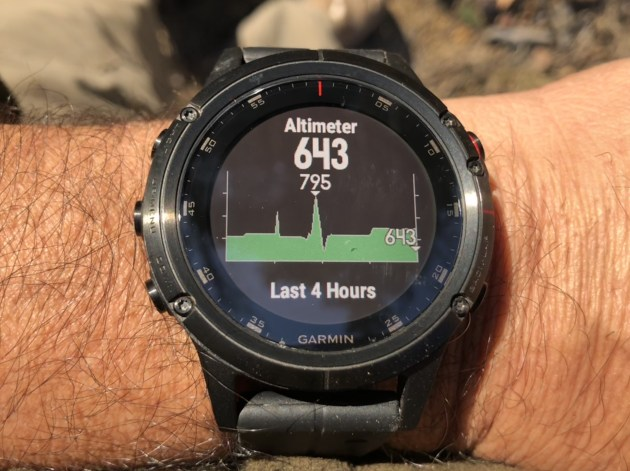 Garmin tracking altitude travelled