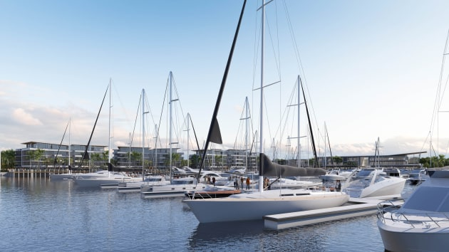 Artist's impression of the new marina planned for Burnett Heads in Queensland.
