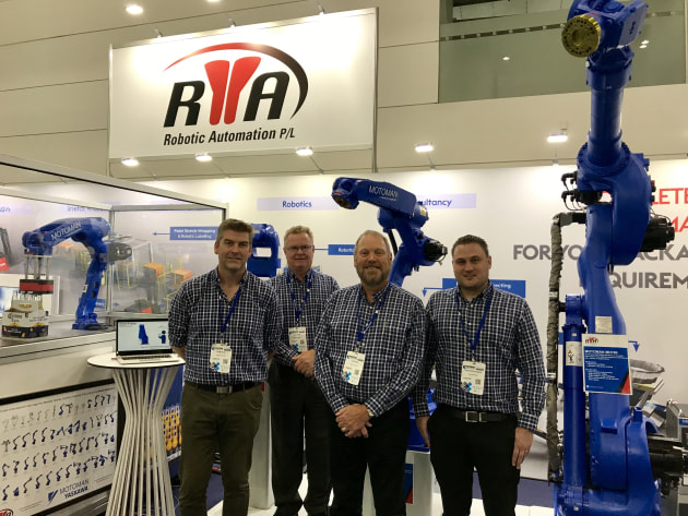The Robotic Automation team. From left: Shane Mahyo, John Hanson, Colin Wells, Christoph Westburg.