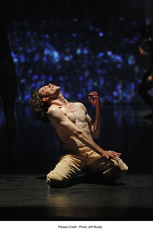 Kynan Hughes performing Sydney Dance Company's 'We Unfold'. Photo: Jeff Busby