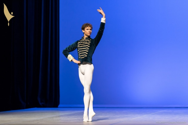 Lincoln Sharpe at the Prix de Lausanne. Photo: Gregory Batardon