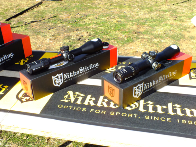 New Nikko Stirling scopes on display at Rifle Range