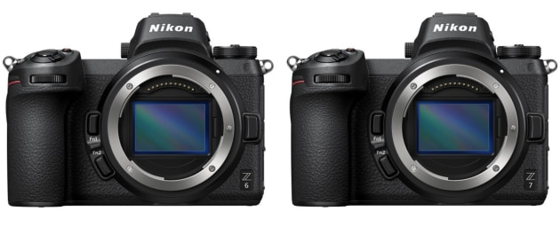 Nikon's first full-frame mirrorless cameras, the Z6 (left) and Z7, were announced last week.