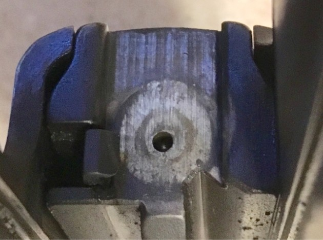 Off-centre striker hole in SIG P226