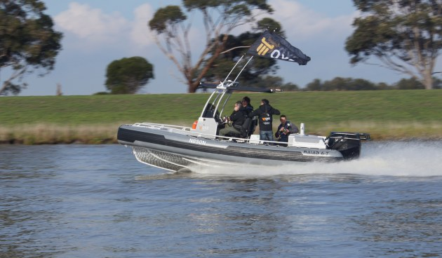 The OXE diesel is put through its paces at a recent on-water demonstration day held at Patterson Lakes in Victoria.