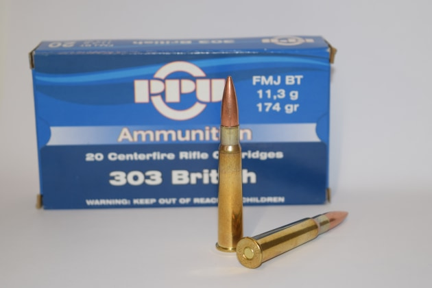 PPU .303 British 174gn FMJ factory ammo