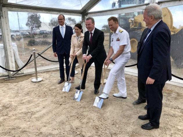 The announcement follows the first sod turning at the Future Submarine Yard at Osborne, SA. @CPyne