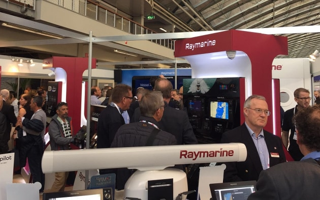 Media on the Raymarine stand at METS to view the latest technology.