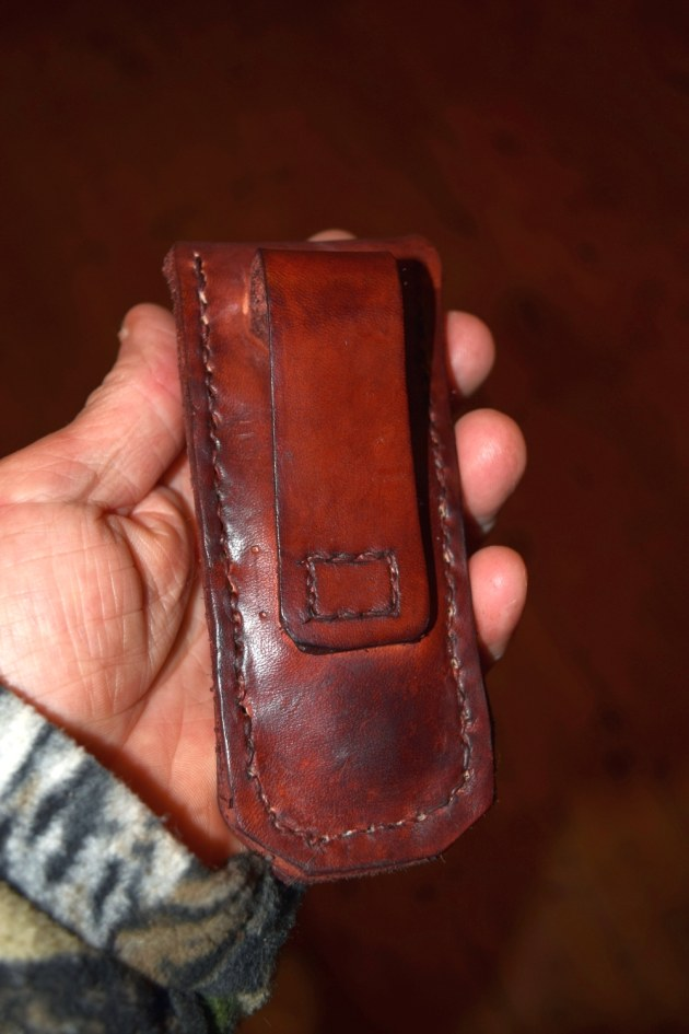 Folding knife pouch other side