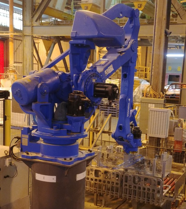 The robotic palletiser at CopRice was upgraded with an SMC wireless solution.