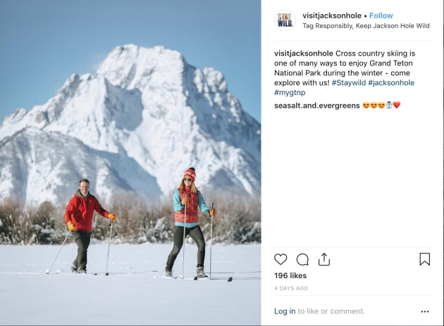 The Jackson Hole instagram page is already using the unique tag aimed at not sharing location specific information.