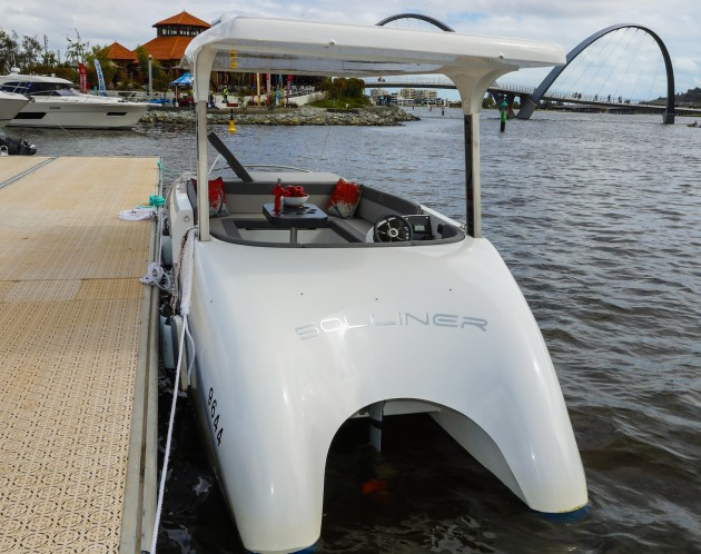 The Solliner made its first local appearance at the Perth boat show last year.