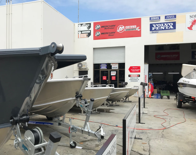 Southern Fish Marine is based at the Sandstone Point Marina on the way to Bribie Island north of Brisbane.