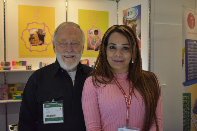 Peter & Elizabeth Madner - On the Geo Australia stand at Spielwarenmesse