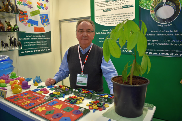 Lou Papaleo - On the Green Rubber Toys stand at Spielwarenmesse