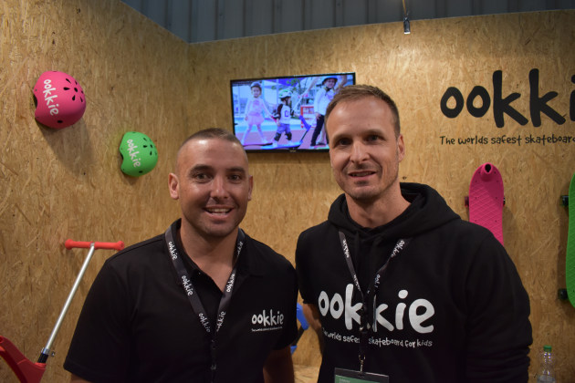 Daniel de Gaye & Jason Koch - On the Skate Innovation stand at Spielwarenmesse