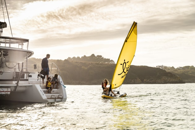 The Tiwal 2 is designed to be carried onboard cruising yachts as an on-water toy.