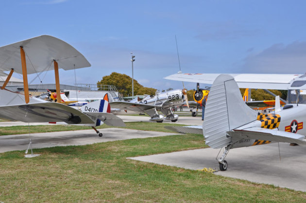 Tyabb Airport is one of Victoria's most vibrant GA airports, home to the Peninsula Aero Club, several maintenance organisations, aviation companies and many antique and warbird aircraft. (Steve Hitchen)