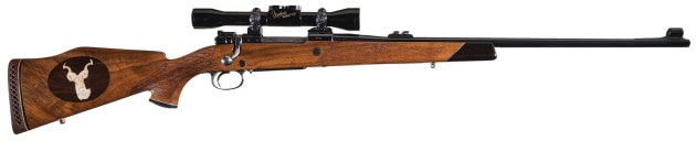 Early immaculate custom Weatherby on FN Mauser action