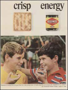 Vegemite in the 60s.