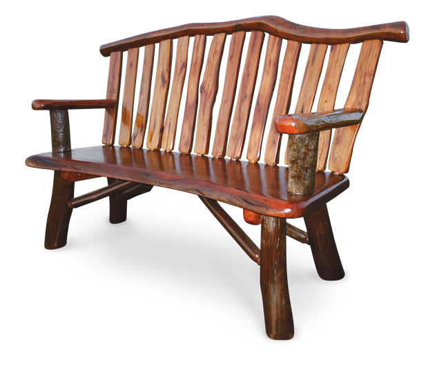 Michael Lehtonen, red ironbark and red forest gum bench chair