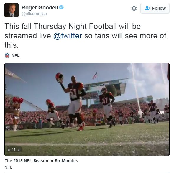 NFL Goodell tweet