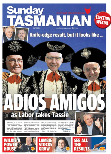 election front page