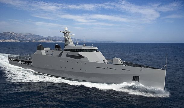 Damen's OPV 2600 design for Sea 1180. Credit: Damen