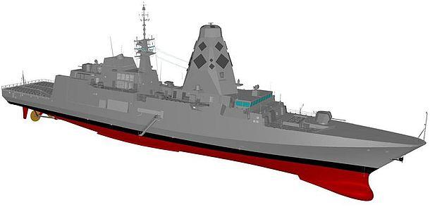 Rendition of Fincantieri's initial design proposal for Sea 5000 Future Frigates program. Credit: Fincantieri